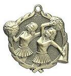 Custom Medal, Cheerleader - 1 3/4