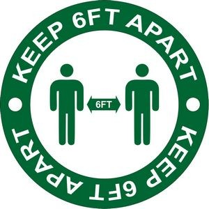 6 Feet Apart Sticker