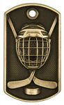 Custom 3-D Metal Dog Tag - Hockey - Antique Bronze - 2