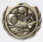 Custom Baseball Burst Medal - 2 1/4