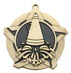 Custom Super Star Medal - Cheer - 2-1/4