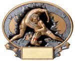 Custom Wrestling - Xplosive Oval Resin Awards - 7-1/4