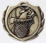 Custom Basketball Burst Medal - 2 1/4