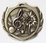 Custom Music Burst Medal - 2 1/4