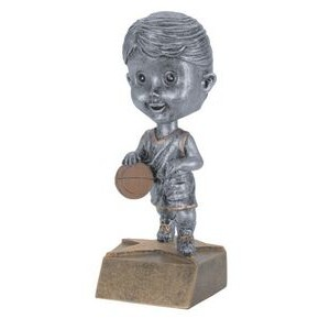 "Resin Female Basketball Bobble Head (6"")"