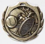 Custom Tennis Burst Medal - 2 1/4