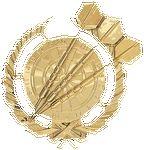 Custom Darts - Wreath Gold Plaque Mount - 4
