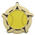 Custom Super Star Medal - Softball - 2-1/4