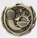 Custom Golf Burst Medal - 2 1/4