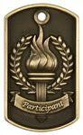 Custom 3-D Metal Dog Tag - Participant - Antique Bronze - 2