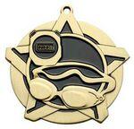 Custom Super Star Medal -Swimming - 2-1/4