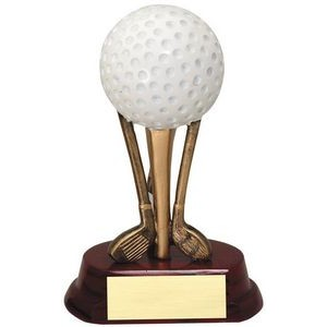 Golf Ball on Clubs - 6""
