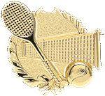 Custom Tennis - Wreath Gold Plaque Mount - 4