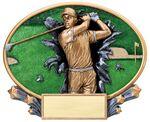 Custom Golf, Male Xplosive Oval Resin - 7-1/4