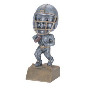 "Resin Football Bobble Head (6"")"