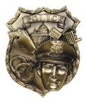 Custom Police Badge - High Relief Resin Plaque Mount Castings - 4-1/2