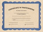 Custom Certificate of Participation - Parchtone 8-1/2