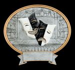 Custom Drama, Mask Oval Sport Legend Plates - 8