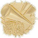 Custom Cheerleader - Wreath Gold Plaque Mount - 3-1/2