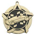 Custom Super Star Medal - Pinewood Derby - 2-1/4