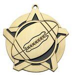Custom Super Star Medal - Football - 2-1/4