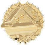 Custom Pool - Wreath Gold Plaque Mount - 3-1/2