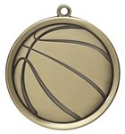 Custom Basketball Mega Medal - 2-1/4