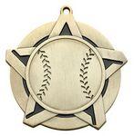 Custom Super Star Medal - Baseball - 2-1/4