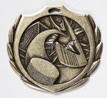 Custom Hockey Burst Medal - 2 1/4