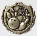 Custom Bowling Burst Medal - 2 1/4