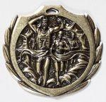 Custom Cross Country Burst Medal - 2 1/4