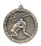 Custom Medals, Wrestling - 1 3/4
