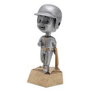 "Resin Male Baseball Bobble Head (6"")"