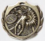 Custom Swimming Burst Medal - 2 1/4