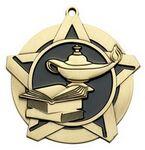 Custom Super Star Medal - Knowledge - 2-1/4
