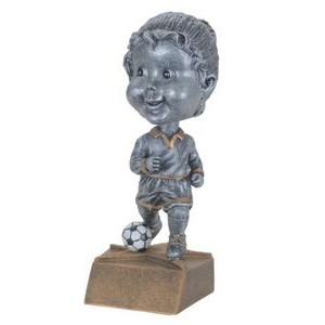 "Resin Female Soccer Bobble Head (6"")"