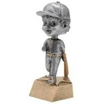 "Resin Female Softball Bobble Head (6"")"