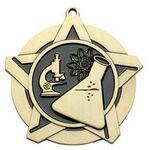 Custom Super Star Medal -Science - 2-1/4