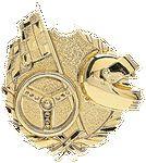 Custom Racing - Wreath Gold Plaque Mount - 3-5/8