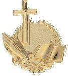 Custom Religion - Wreath Gold Plaque Mount - 4