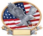 Custom Eagle 3D Oval Resin Awards -Large - 8-1/4