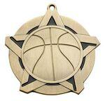 Custom Super Star Medal - Basketball - 2-1/4