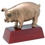 Custom Pig, Antique Gold, Resin Sculpture - 4