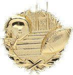 Custom Football - Wreath Gold Plaque Mount - 4