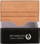 Custom Business Card Holder - Black Hard Leatherette