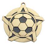 Custom Super Star Medal -Soccer - 2-1/4