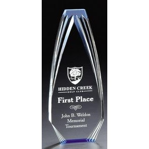 "Blue Diamond Obelisk Acrylic Award - 8"" High"