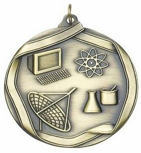 Medal Science - 2-1/4 dia. Die Cast