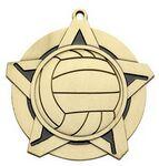 Custom Super Star Medal -Volleyball- 2-1/4