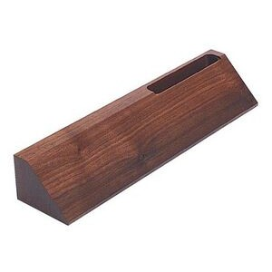 "Name Plate Wedges - Card Holder - Walnut - 2"" x 10"""